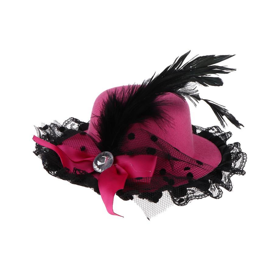 商品追加値下げ在庫復活 1 3 新品 送料無料 BJD少女人形のヴィンテージ人形ボウラーキャップワイドつばの帽子は.バラの花をドレスアップ