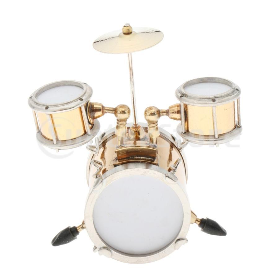 1 レビューを書けば送料当店負担 12ドールハウス ミニチュア メタル 注文後の変更キャンセル返品 楽器モデル おもちゃ ドラムセット デコレーション