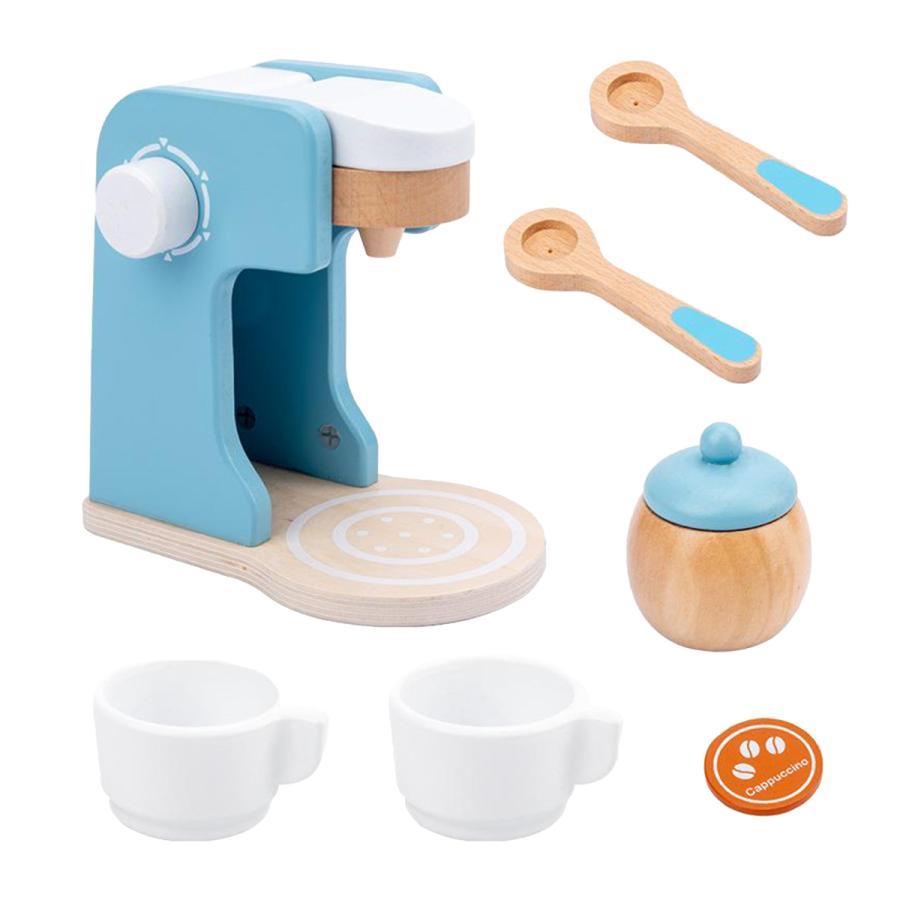 コーヒーメーカー 木製プレイキッチン キッズキッチン用フードセットを再生|stk-shop