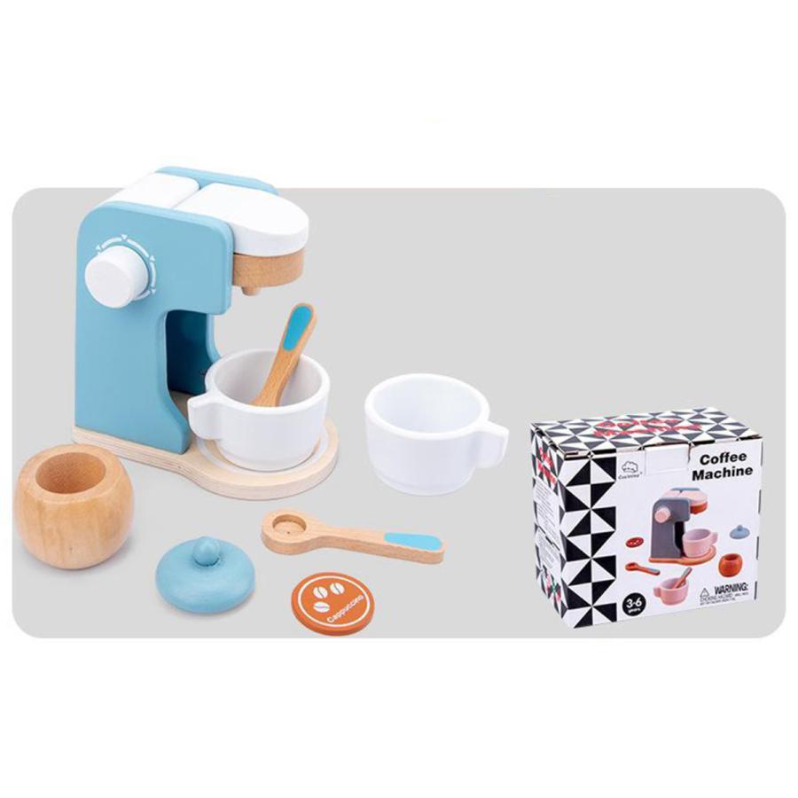 コーヒーメーカー 木製プレイキッチン キッズキッチン用フードセットを再生|stk-shop|04