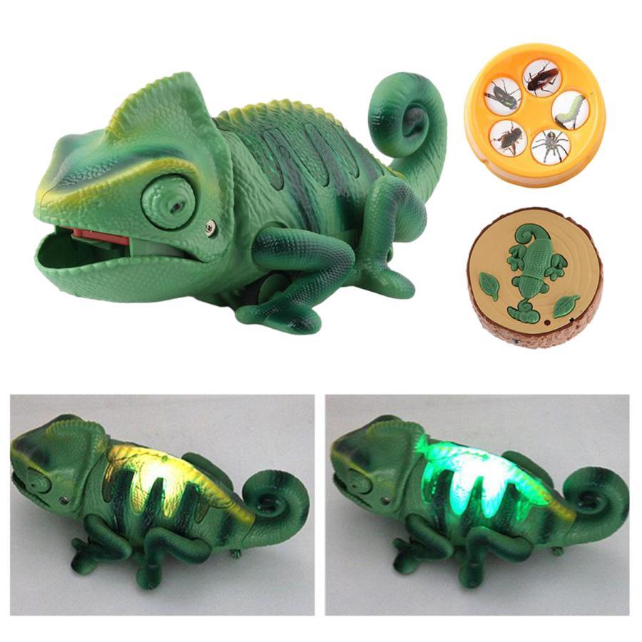買物 リモート制御カメレオンのおもちゃ現実的な動物赤外線rcカメレオンカメレオンのおもちゃ電動おもちゃパーティーパーティー用品を支持する 保障