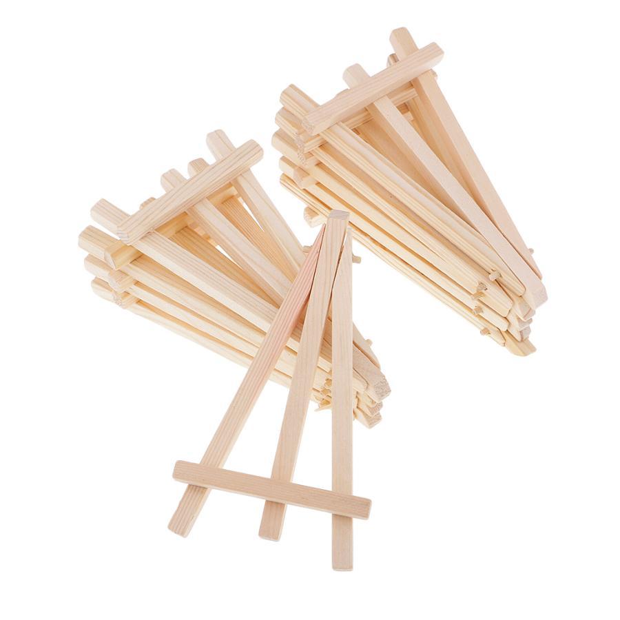 イーゼル ホルダー スタンド 激安セール ミニ 三脚 木製 写真 折りたたみ可 画材 軽量 18%OFF ディスプレイ 10個