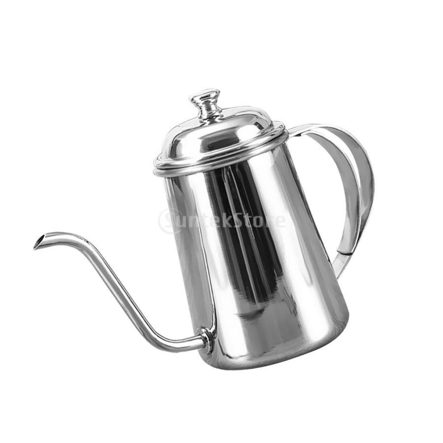 650ml ステンレス製 コーヒーポット ティーケトル グースネック 紅茶.モカに適用 5色選べ - 銀, 16.5×9.5cm|stk-shop|03