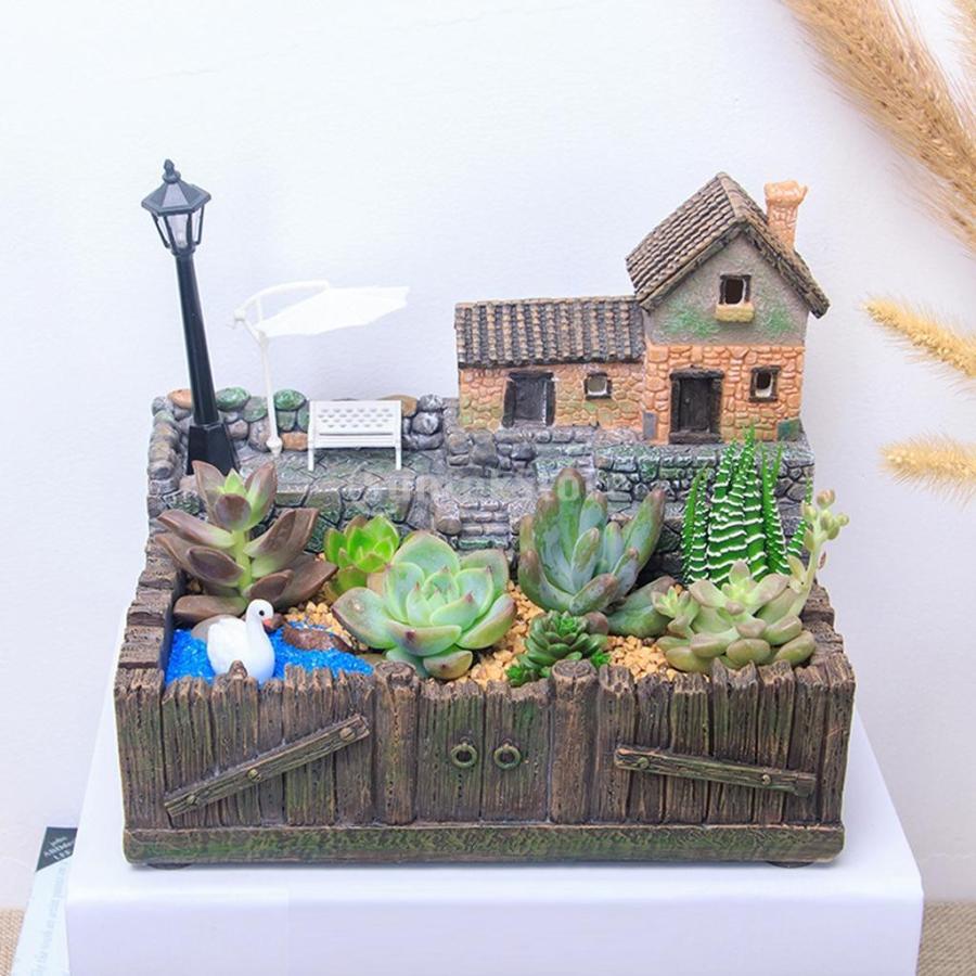 プランター 植木鉢 樹脂製 多肉植物 寄せ植え 可愛い 18.5x12x16cm 部屋 庭 2タイプ|stk-shop|02
