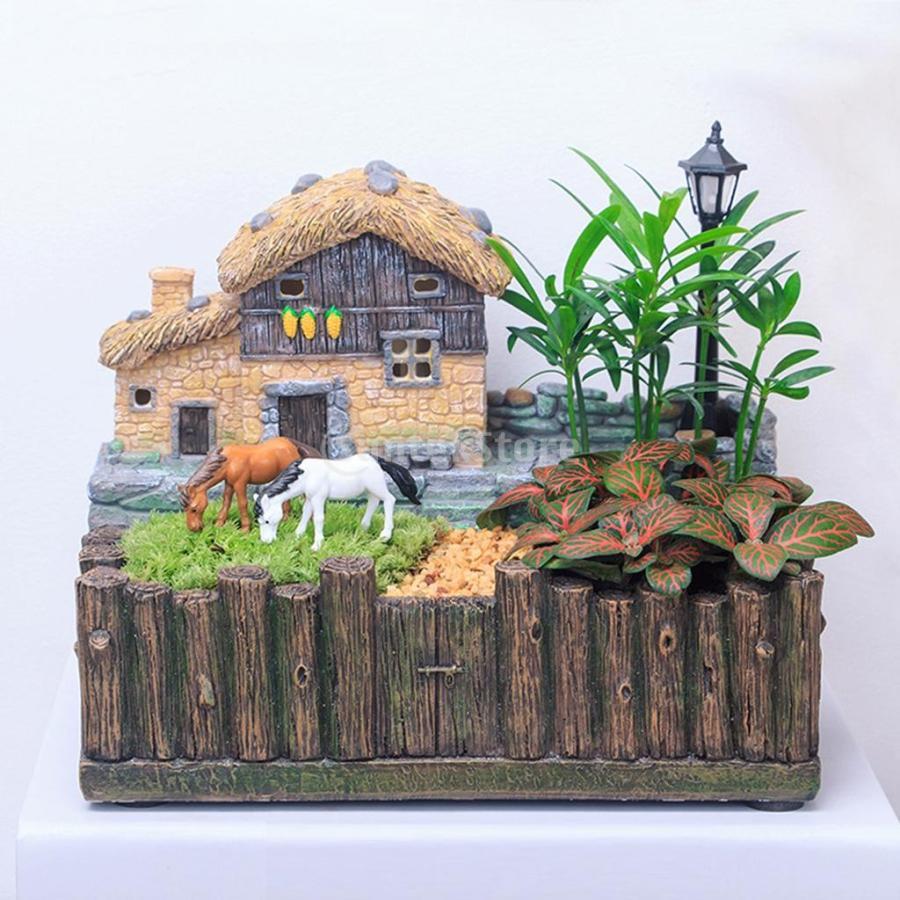 プランター 植木鉢 樹脂製 多肉植物 寄せ植え 可愛い 18.5x12x16cm 部屋 庭 2タイプ|stk-shop|04