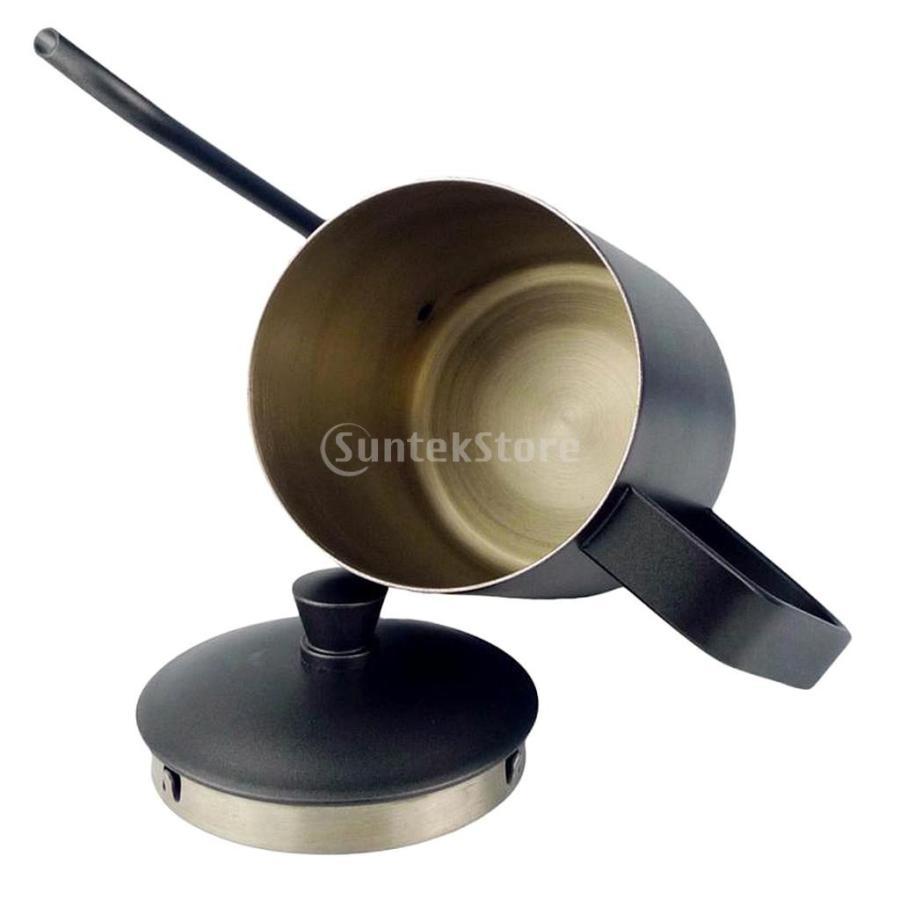 ステンレス スチール ハンド ドリップ コーヒーポット グースネック ケトル 600ml 黒 コーヒーケトル stk-shop 03