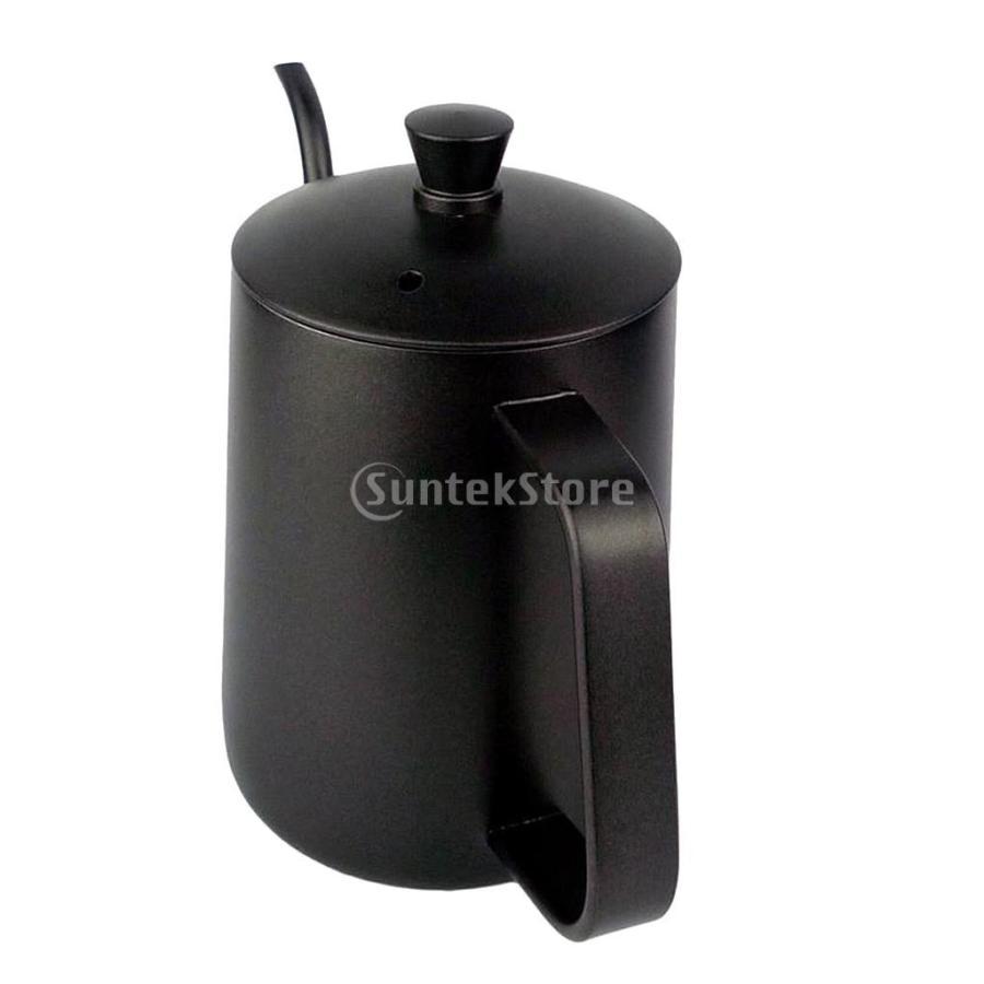 ステンレス スチール ハンド ドリップ コーヒーポット グースネック ケトル 600ml 黒 コーヒーケトル stk-shop 09