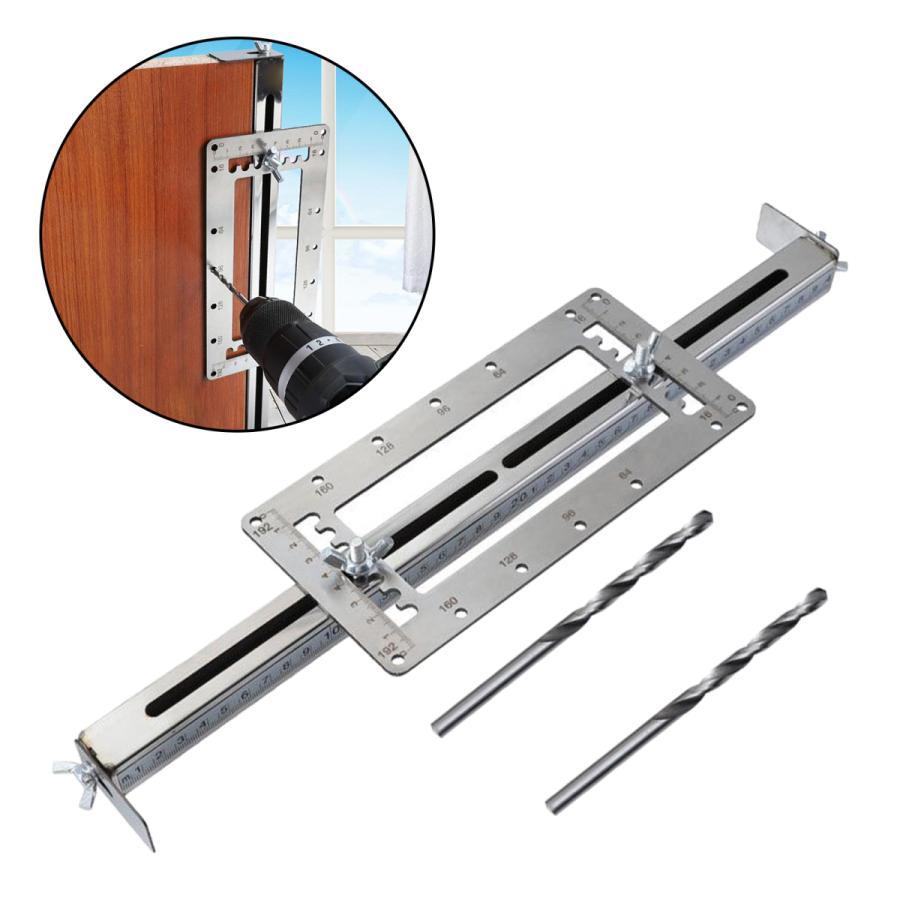いつでも送料無料 送料無料カード決済可能 木工穴ロケータポータブルステンレス鋼木質パンチツール測定ドリルガイドdiy正確な耐久性のあるポータブルジグ