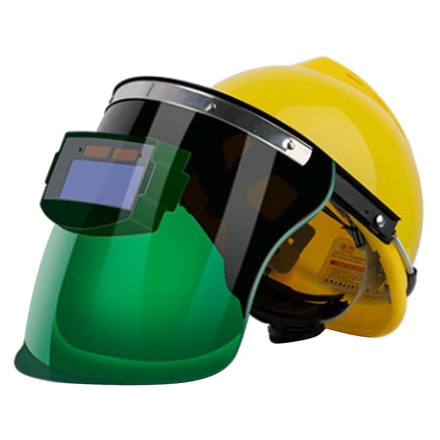 サービス オートダークニング溶接ヘルメット溶接マスクフードTIGMIG小型表示画面 高い素材