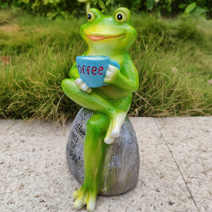 3Dカエル像彫刻置物アートホームテーブルトップデスク装飾スタイルA 引出物 贈呈
