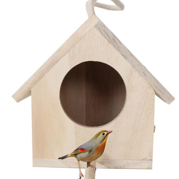 通販 激安◆ 毎日がバーゲンセール 鳩フィンチオウムのための木製の巣箱屋外の庭の掛かる鳥かご鳥の孵化の家