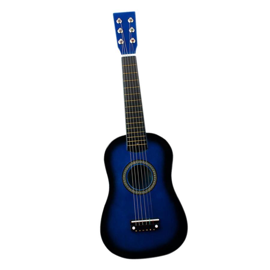 ミニ23インチ木製6弦アコースティックギター楽器ギフトブルー 高級品 毎日続々入荷