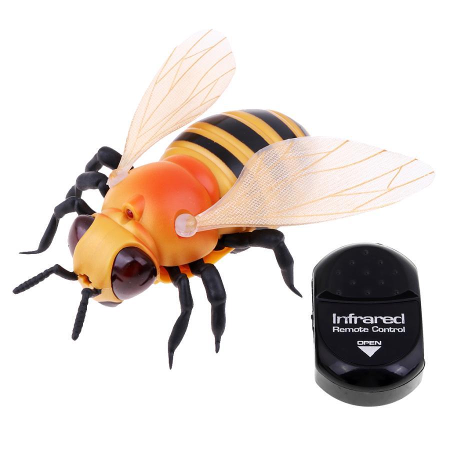 激安 キッドトリッキー赤外線センサーリモートコントロール電動動物モデルおもちゃの蜂 割り引き