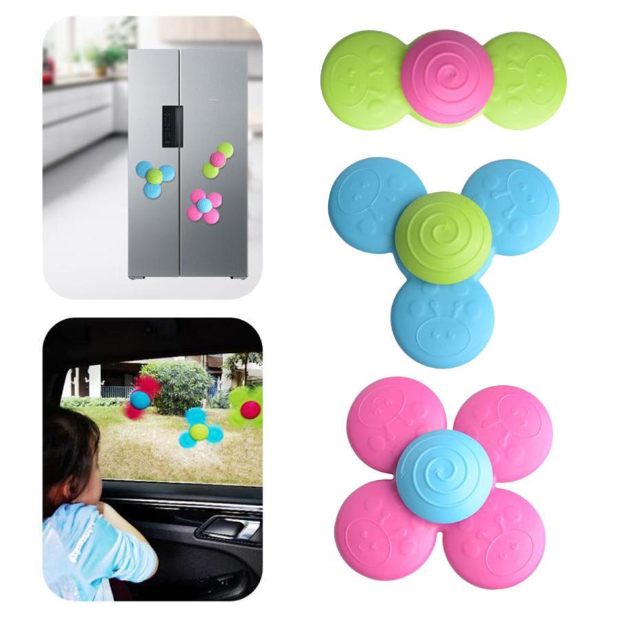 3個吸引カップこまおもちゃスピンスピナー面白い赤ちゃんroatationのおもちゃストレスリリーフ抗不安ギフトキッズ幼児 新入荷 流行