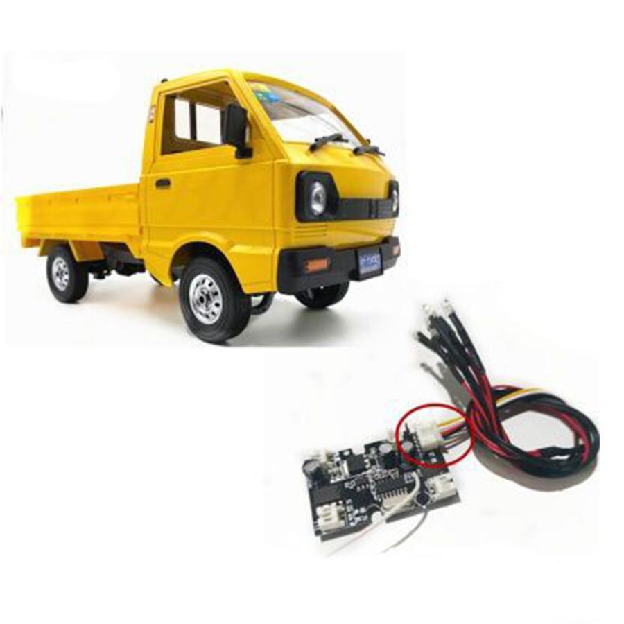 Rc車のサイドライトグループランプwpl 1 毎週更新 卸売り rcトラック変更されたアクセサリーのため.インストールが簡単 D12