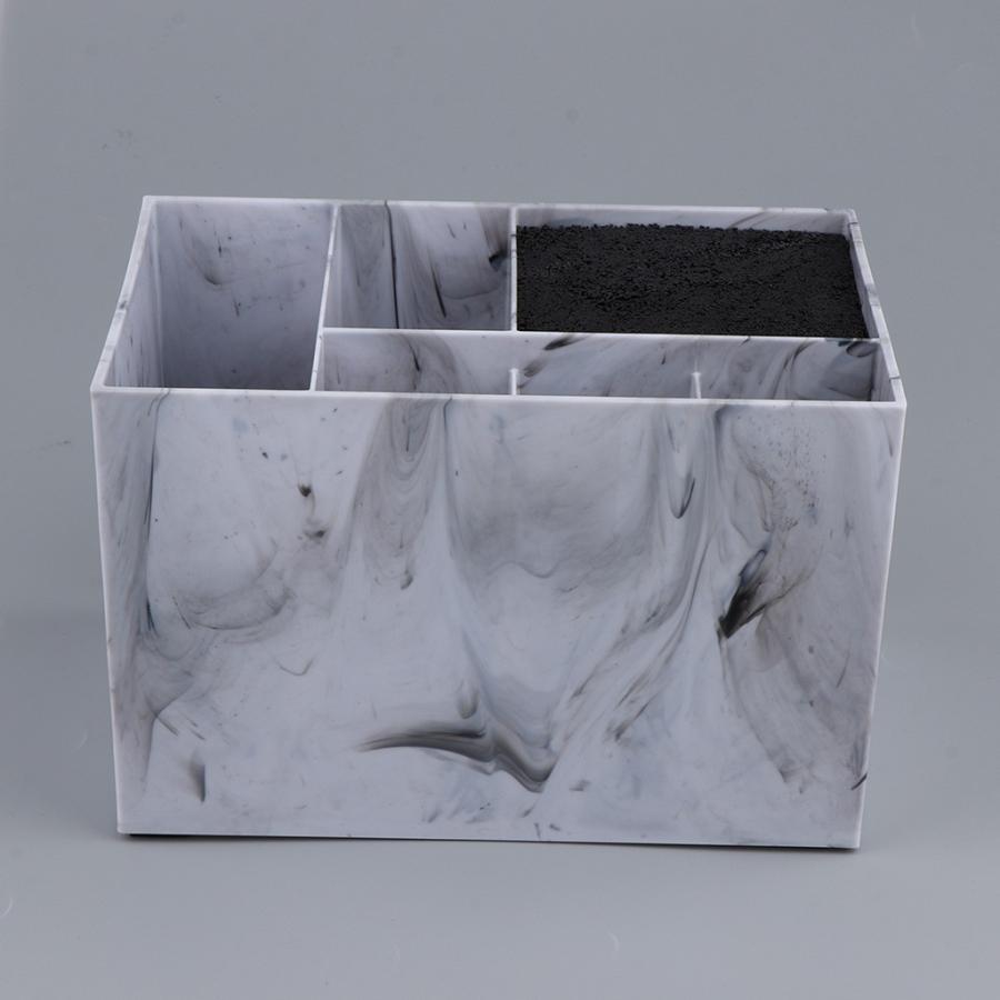 (訳ありセール 格安) 安心と信頼 6コンパートメントサロンはさみホルダーはさみくしクリップオーガナイザーホルダーケース大理石