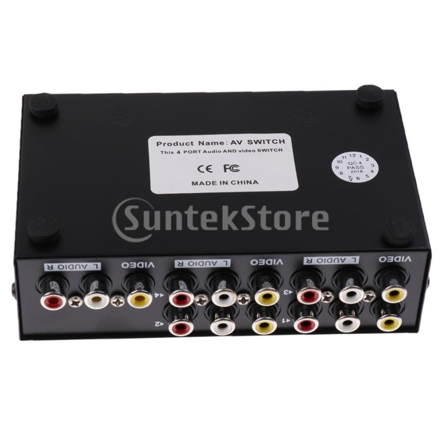 4ポート RCA ビデオ オーディオ AV スイッチ セレクタ スプリッタボックス 4入力1出力|stk-shop|05