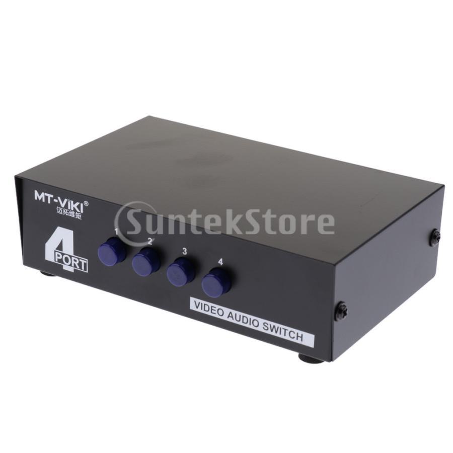 4ポート RCA ビデオ オーディオ AV スイッチ セレクタ スプリッタボックス 4入力1出力|stk-shop|06