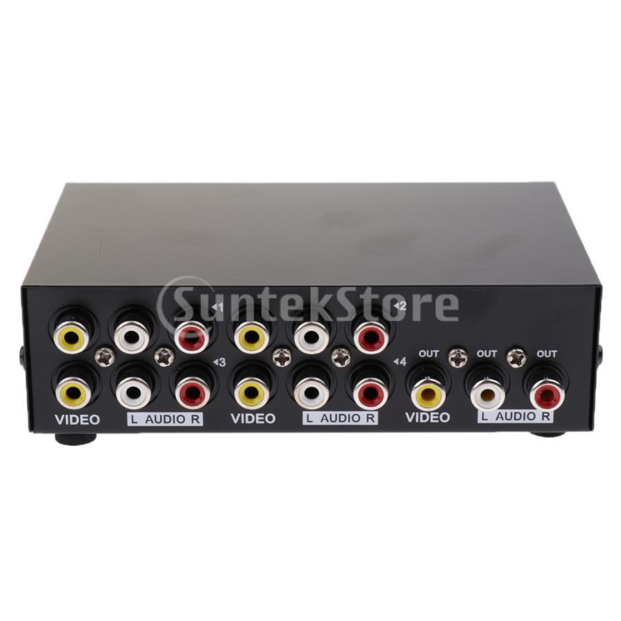 4ポート RCA ビデオ オーディオ AV スイッチ セレクタ スプリッタボックス 4入力1出力|stk-shop|08