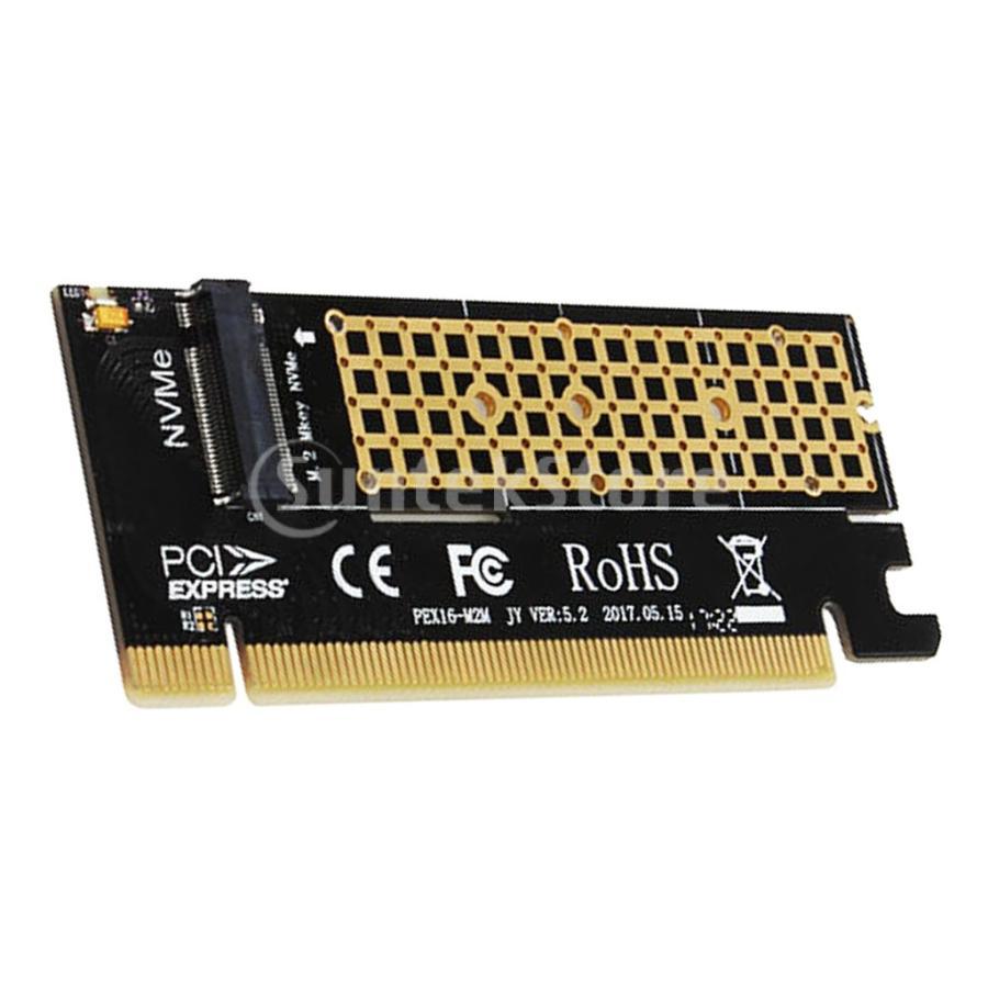 NVME M.2 NGFF拡張カードアダプターSupprot Mキー高速へのPCIE3.0 16X stk-shop