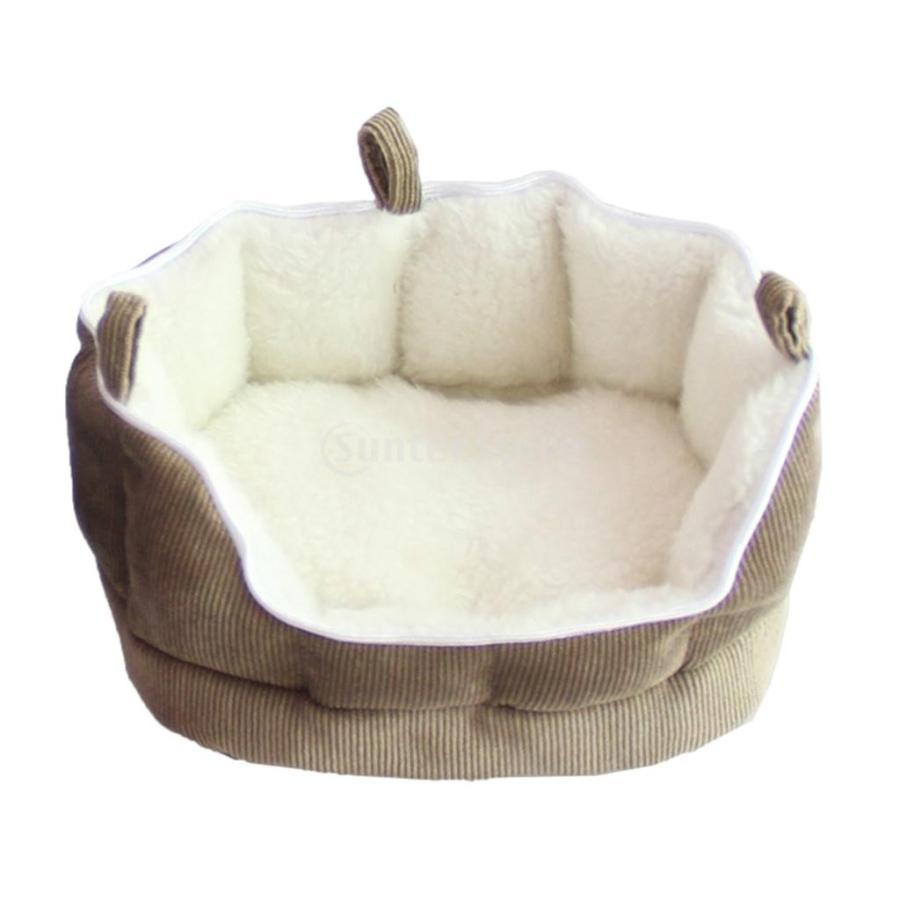 小型動物 ペット ハムスター ハンモック ソフト 吊り ベッド 取り外し可能 洗える 全2色選べる - コーヒー stk-shop