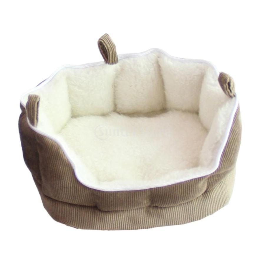 小型動物 ペット ハムスター ハンモック ソフト 吊り ベッド 取り外し可能 洗える 全2色選べる - コーヒー stk-shop 02