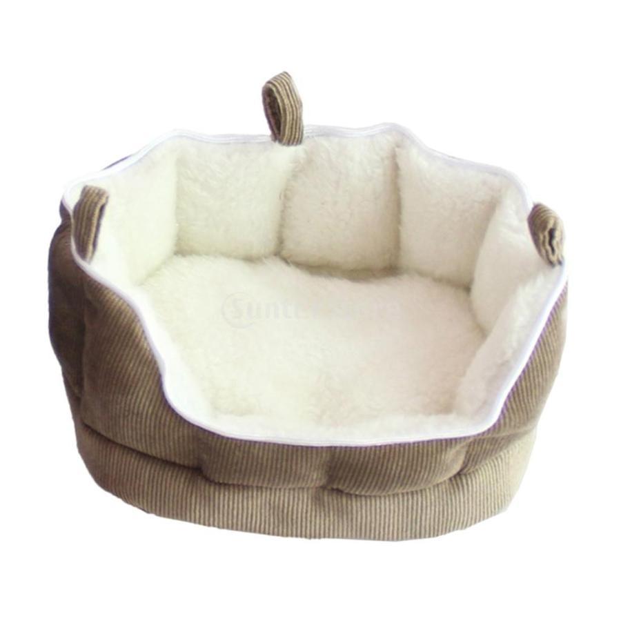 小型動物 ペット ハムスター ハンモック ソフト 吊り ベッド 取り外し可能 洗える 全2色選べる - コーヒー stk-shop 06