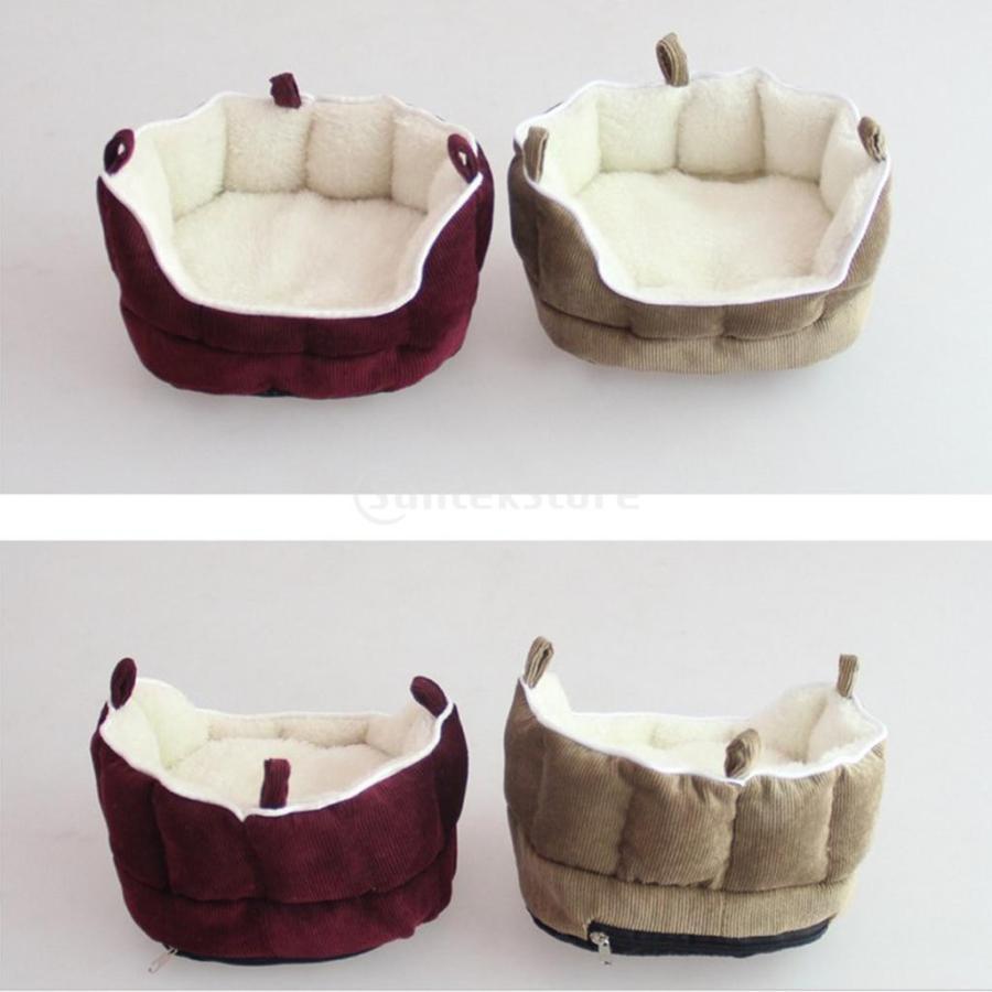 小型動物 ペット ハムスター ハンモック ソフト 吊り ベッド 取り外し可能 洗える 全2色選べる - コーヒー stk-shop 07