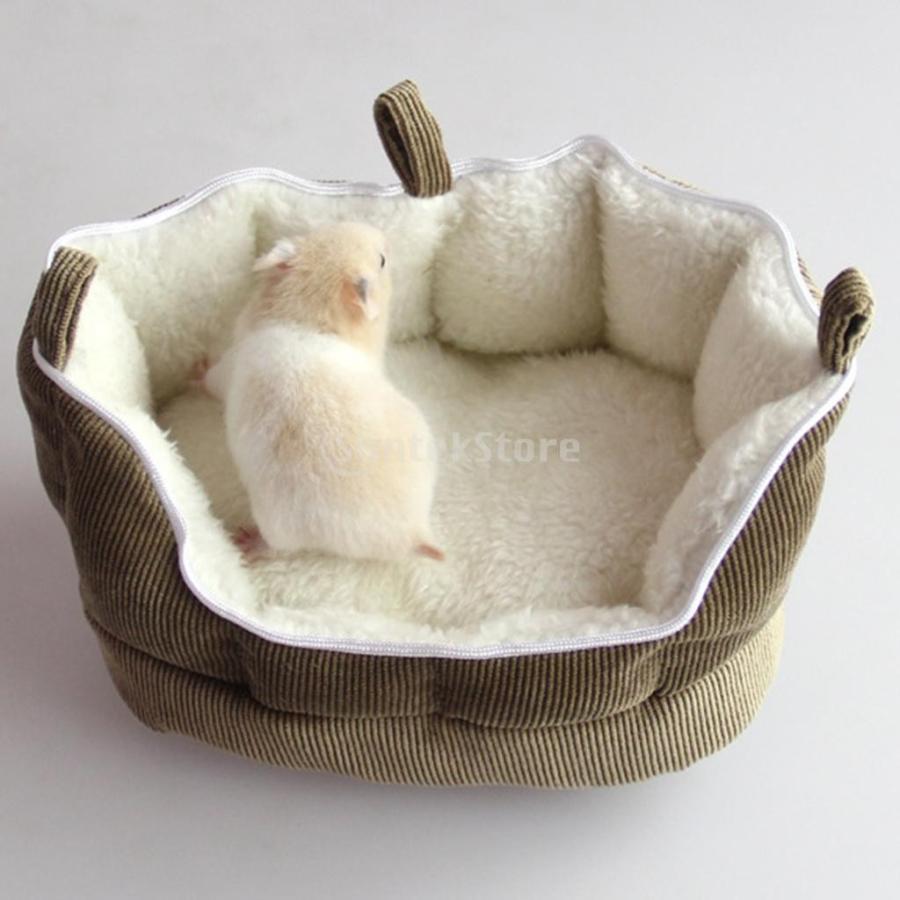 小型動物 ペット ハムスター ハンモック ソフト 吊り ベッド 取り外し可能 洗える 全2色選べる - コーヒー stk-shop 08