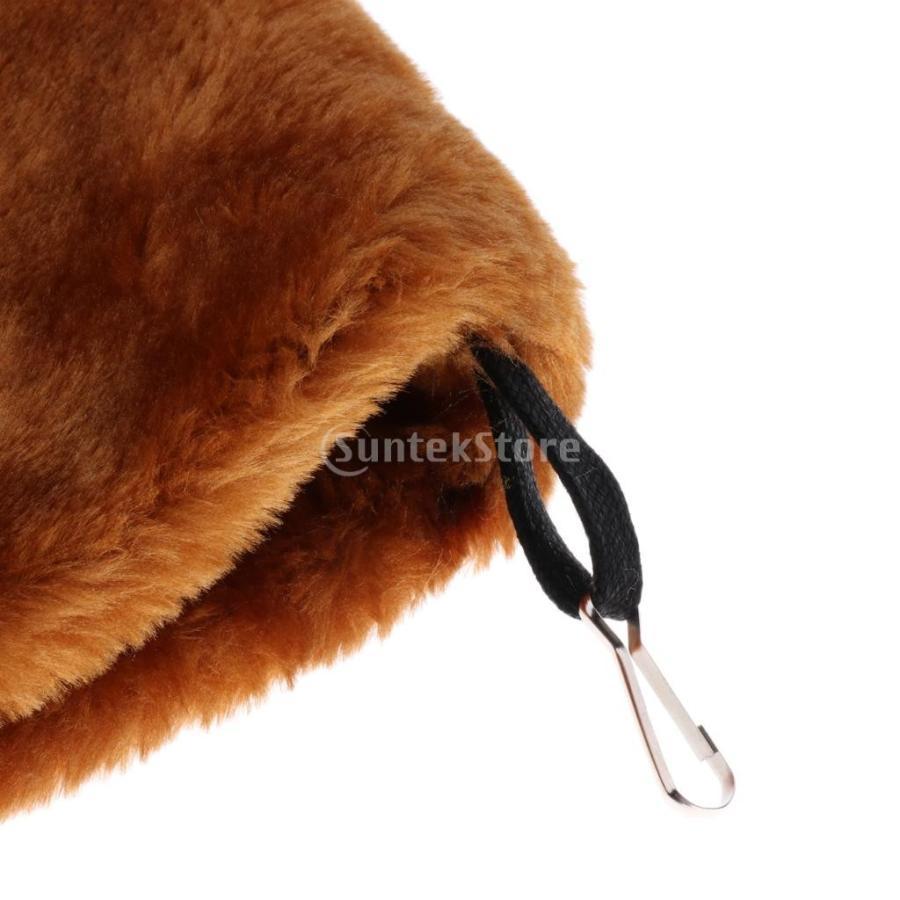 小型ペット ハムスター オウム ハンモック ダブルデッキ  ポケット ぬいぐるみ  ハンモック 快適 全3色2サイズ - コーヒー, L stk-shop 08