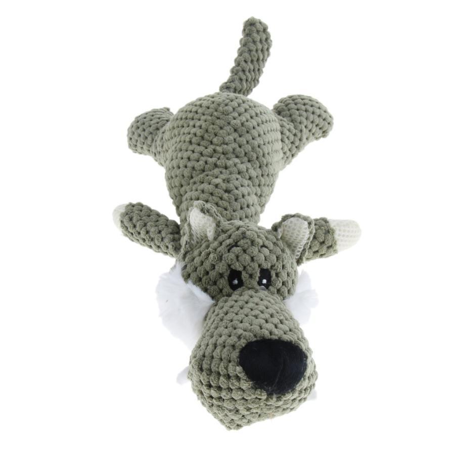 特価品コーナー☆ 物品 おかしい犬のおもちゃペット子犬かみ噛み器ぎこちない豪華なサウンドプレイおもちゃオオカミ