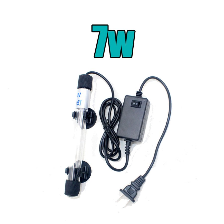 魚飼育用の水槽LEDライト.アクアリウムライトUVライトUS 7W 110V 超激安 返品不可