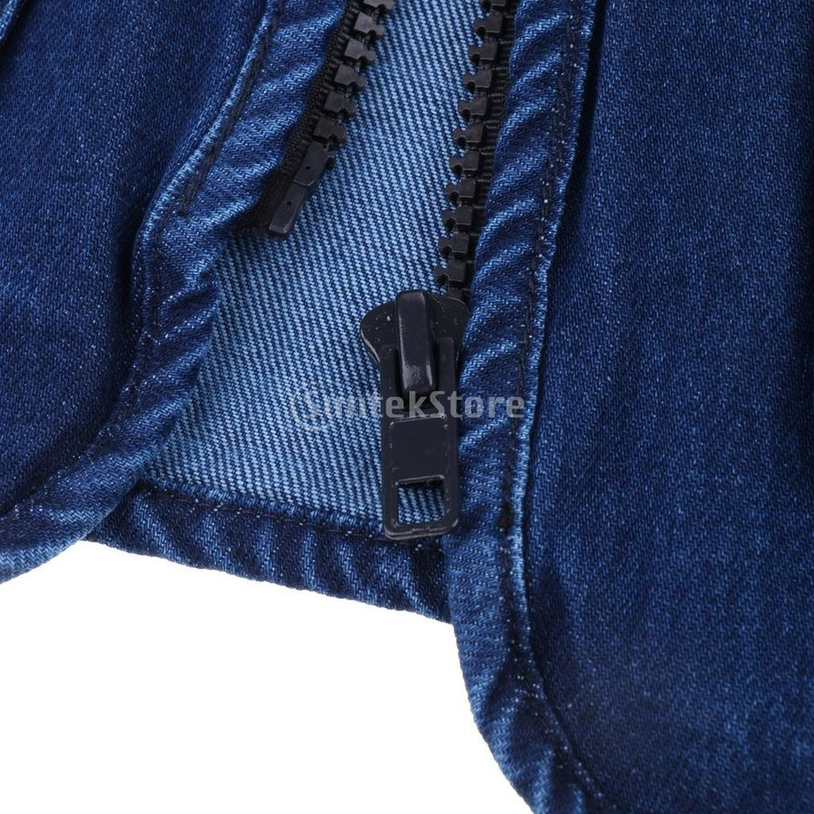 デニムベスト ジャケット マルチポケット 軽量 防風 作業用 全5サイズ - 3xl|stk-shop|05