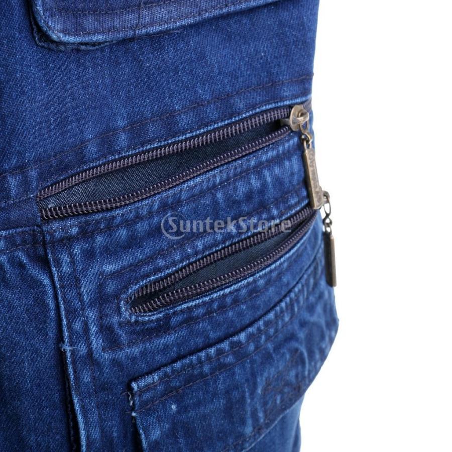 デニムベスト ジャケット マルチポケット 軽量 防風 作業用 全5サイズ - 3xl|stk-shop|06