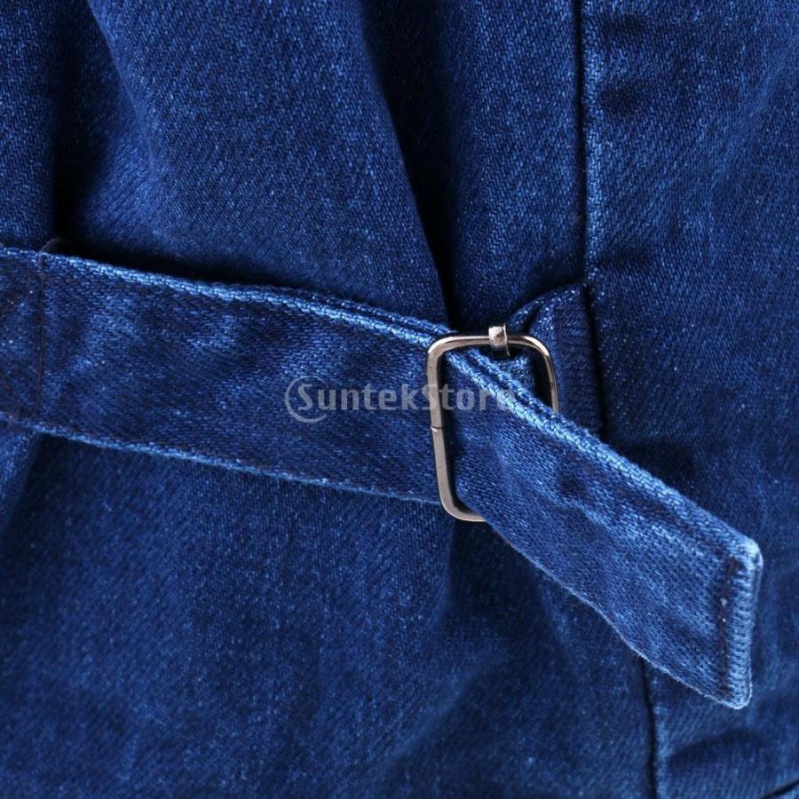 デニムベスト ジャケット マルチポケット 軽量 防風 作業用 全5サイズ - 3xl|stk-shop|10