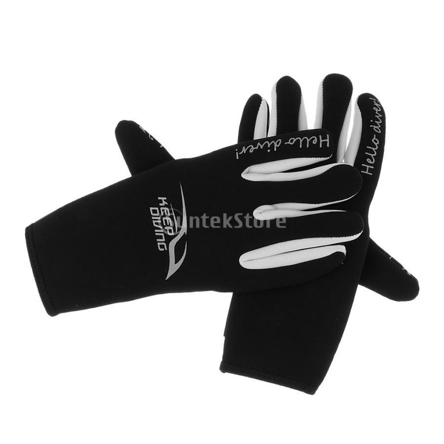ネオプレングローブ 3mm ネオプレン 手袋 五本指 滑り止め 全3サイズ - M stk-shop 02