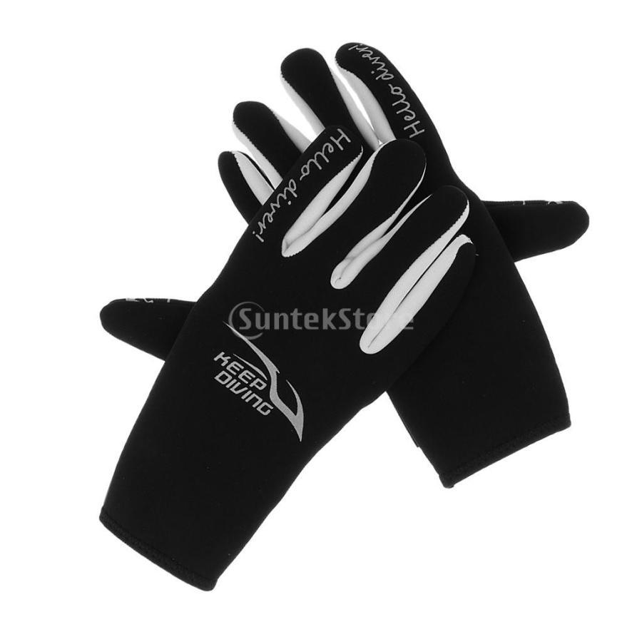 ネオプレングローブ 3mm ネオプレン 手袋 五本指 滑り止め 全3サイズ - M stk-shop 03