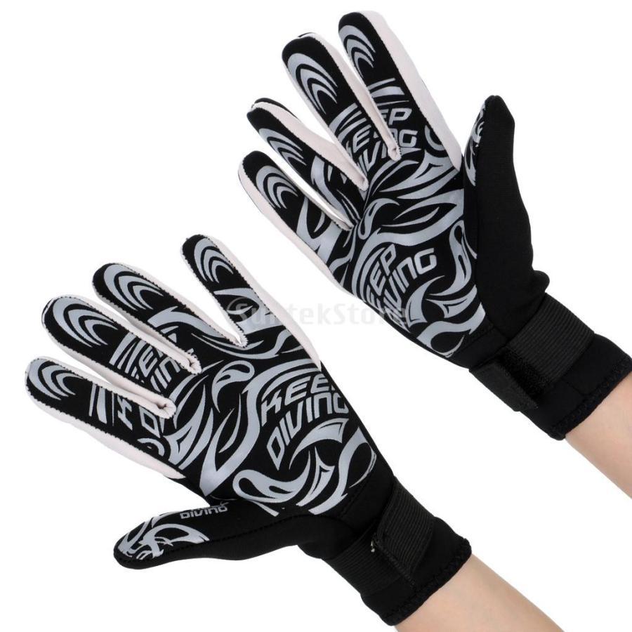 ネオプレングローブ 3mm ネオプレン 手袋 五本指 滑り止め 全3サイズ - M stk-shop 06