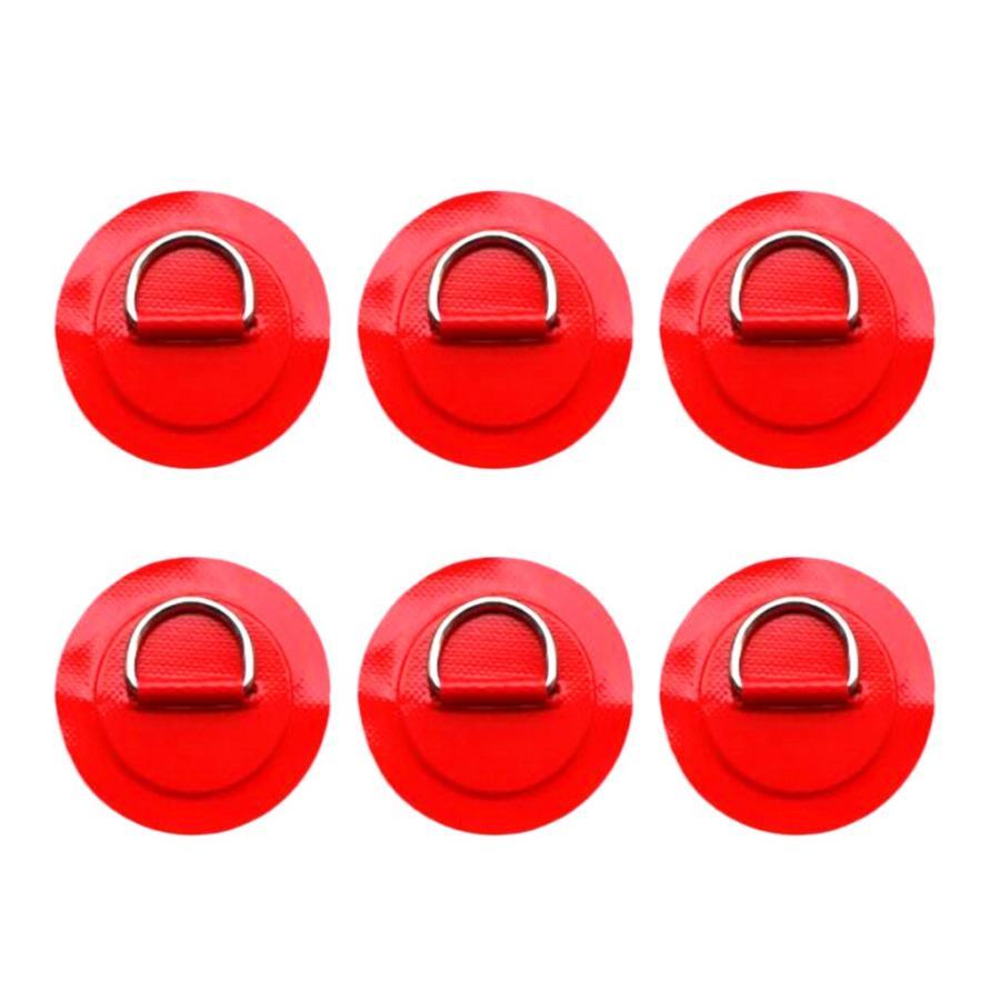 6個 長持ち 316ステンレス鋼 Dリング パッド パッチ 赤 店 - PVC カヤック用 全4色 インフレータブルボート 正規品スーパーSALE×店内全品キャンペーン