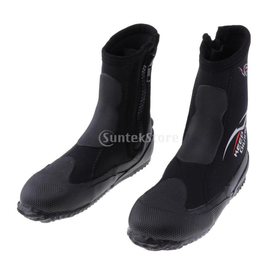 サーフィン カヤック ダイビングブーツ 靴 5mmネオプレン スーパーストレッチ 水漏れ防止 全7サイズ - M, 39-40|stk-shop