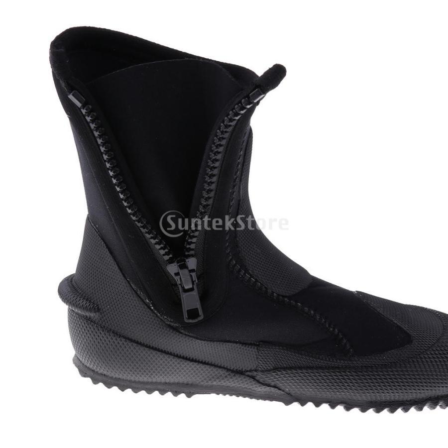サーフィン カヤック ダイビングブーツ 靴 5mmネオプレン スーパーストレッチ 水漏れ防止 全7サイズ - M, 39-40|stk-shop|02