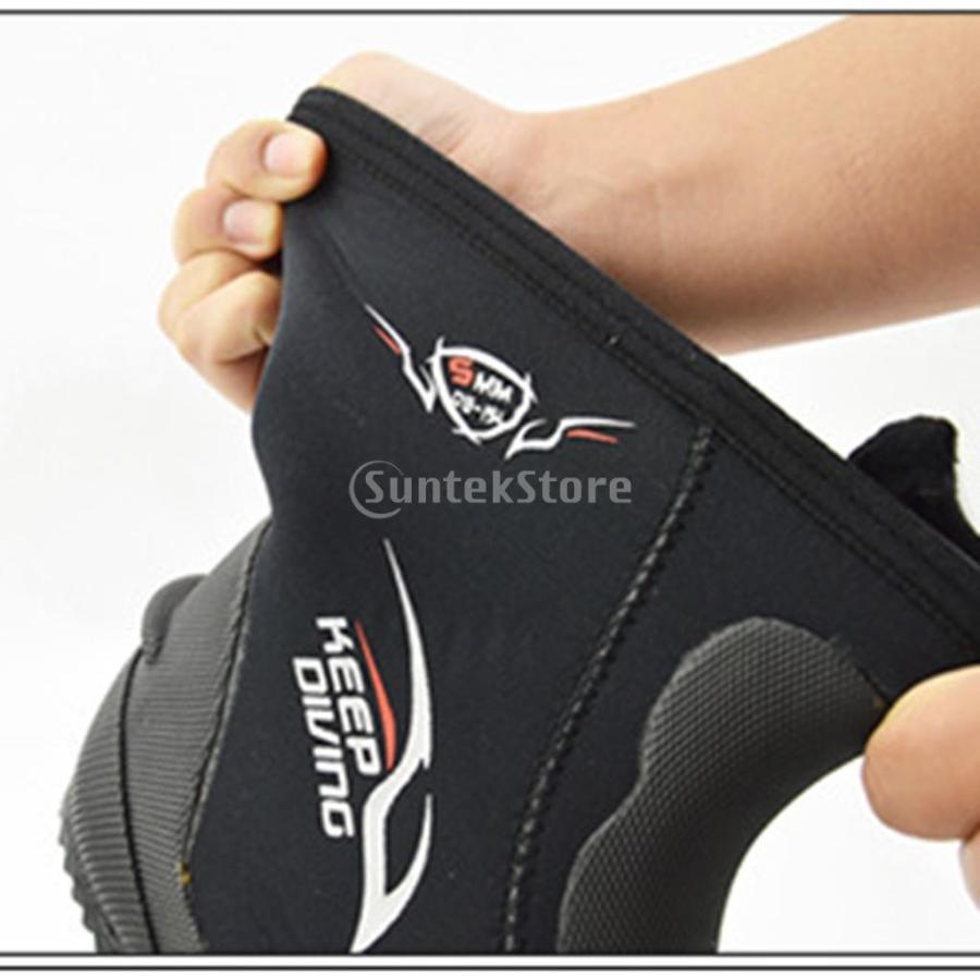 サーフィン カヤック ダイビングブーツ 靴 5mmネオプレン スーパーストレッチ 水漏れ防止 全7サイズ - M, 39-40|stk-shop|11