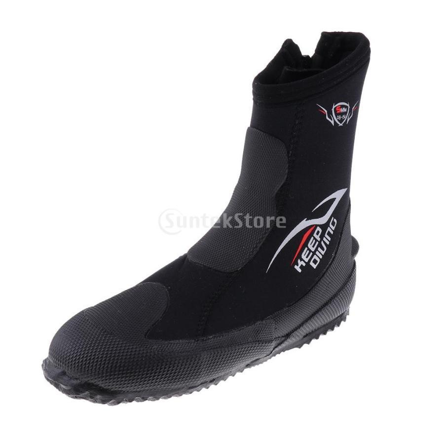 サーフィン カヤック ダイビングブーツ 靴 5mmネオプレン スーパーストレッチ 水漏れ防止 全7サイズ - M, 39-40|stk-shop|03