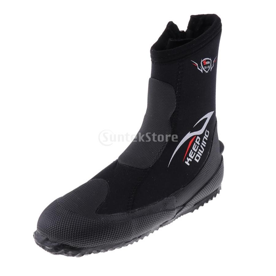 サーフィン カヤック ダイビングブーツ 靴 5mmネオプレン スーパーストレッチ 水漏れ防止 全7サイズ - M, 39-40|stk-shop|04