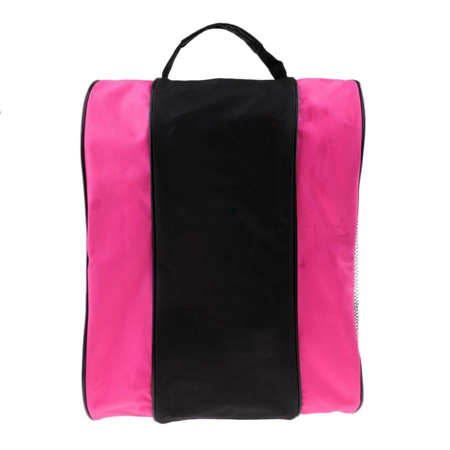 ポータブル インライン ローラースケートブーツバッグ 保護 お見舞い 品質保証 ピンク 全3色 - キャリーパック