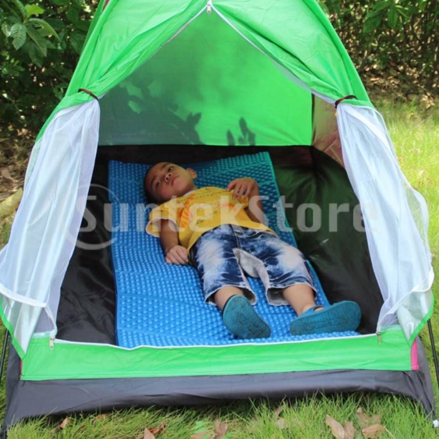 スリーピングパッド 折りたたみ 屋外キャンプマット ポータブル ピクニック 睡眠クッションパッド 快適 軽量 アーミーグリーン stk-shop 02