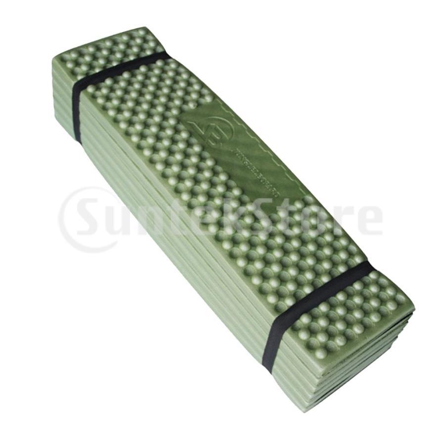スリーピングパッド 折りたたみ 屋外キャンプマット ポータブル ピクニック 睡眠クッションパッド 快適 軽量 アーミーグリーン stk-shop 04