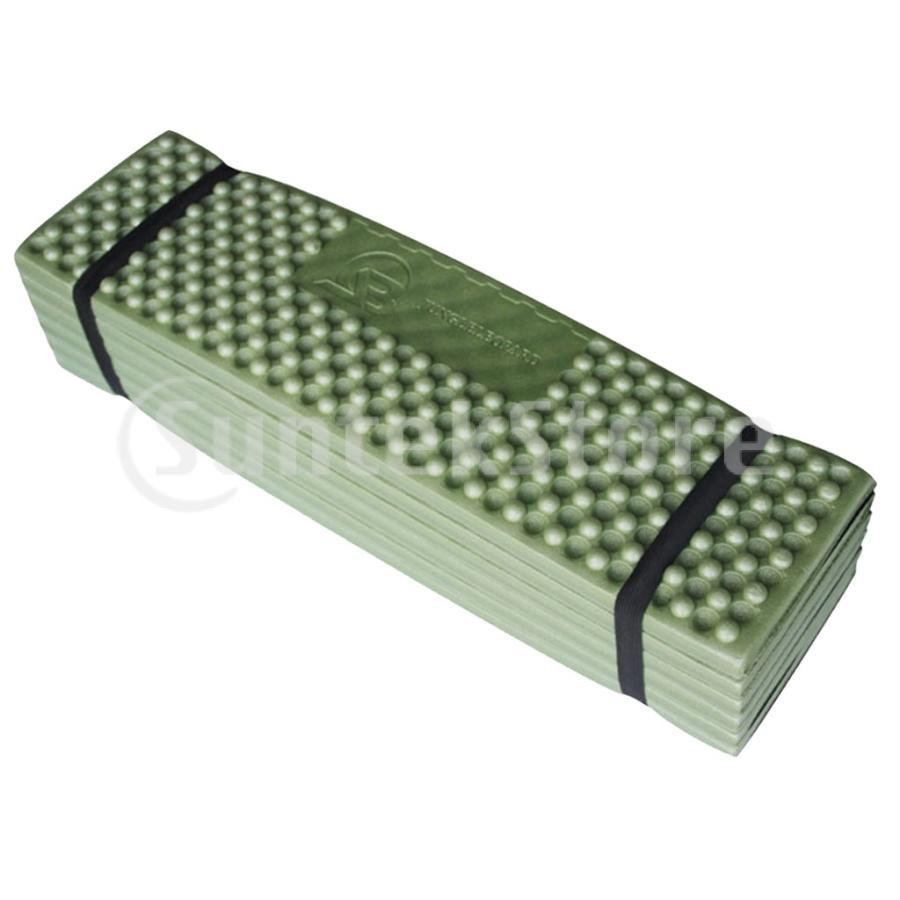 スリーピングパッド 折りたたみ 屋外キャンプマット ポータブル ピクニック 睡眠クッションパッド 快適 軽量 アーミーグリーン stk-shop 05