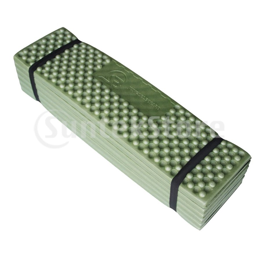 スリーピングパッド 折りたたみ 屋外キャンプマット ポータブル ピクニック 睡眠クッションパッド 快適 軽量 アーミーグリーン stk-shop 06