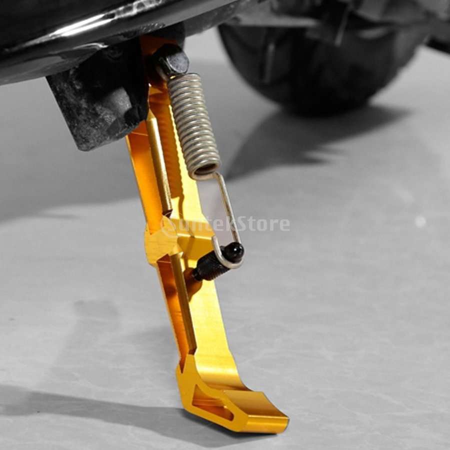 日本メーカー新品 オートバイ 誕生日プレゼント キックスタンド サイドスタンド サポート 全3色 赤 -